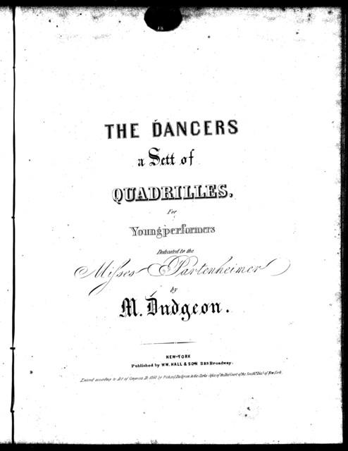 The  dancers, a sett of quadrilles