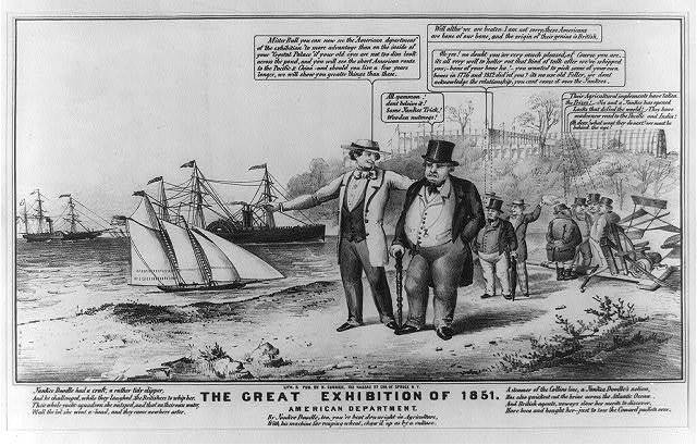 The great exhibition of 1851 American department.