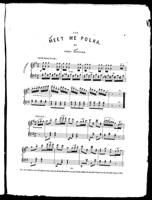 The  meet me, or, The rendez-vous polka