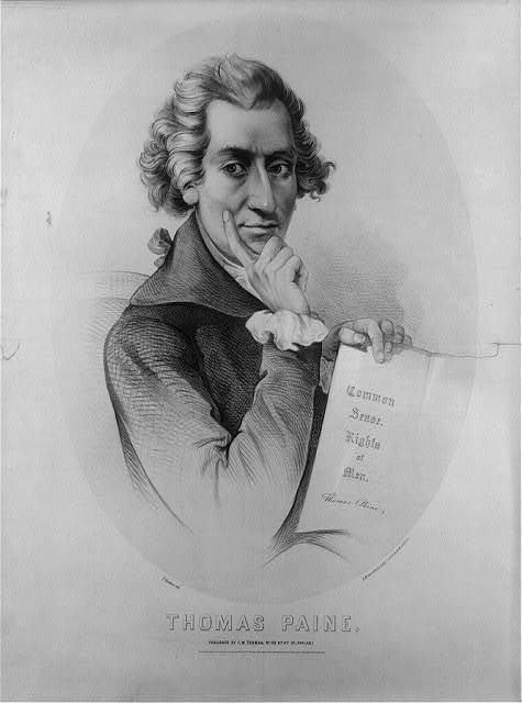 Thomas Paine / P. Krämer del. ; L. Rosenthal's Lithy. cor. 3d. & Dock St. Phila.