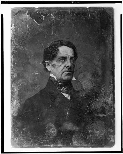 [Unidentified man, about 45 years of age, head-and-shoulders portrait, three-quarters to the right]