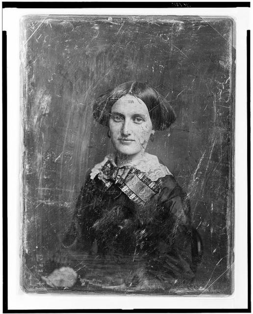 [Unidentified woman, about 25 years of age, half-length portrait, three-quarters to the left, facing front]