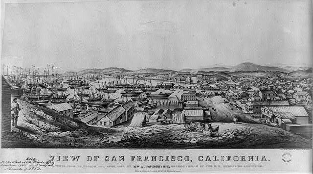 View of San Francisco, California: taken from Telegraph Hill, April 1850, by Wm. B. McMurtrie, draughtsman of the U.S. Surveying Expedition