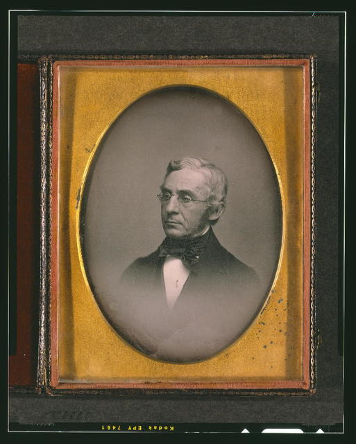 [William Young McAllister, head-and-shoulders portrait, facing left]