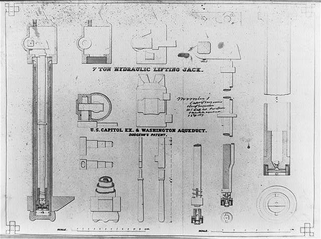 7 ton hydraulic lifting jack, U.S. Capitol Ex. and Washington Aqueduct, Dudgeon's patent