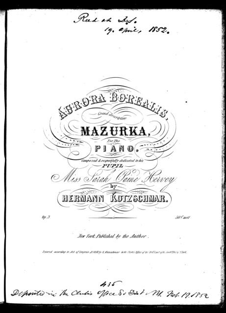 Aurora borealis, grand descriptive mazurka