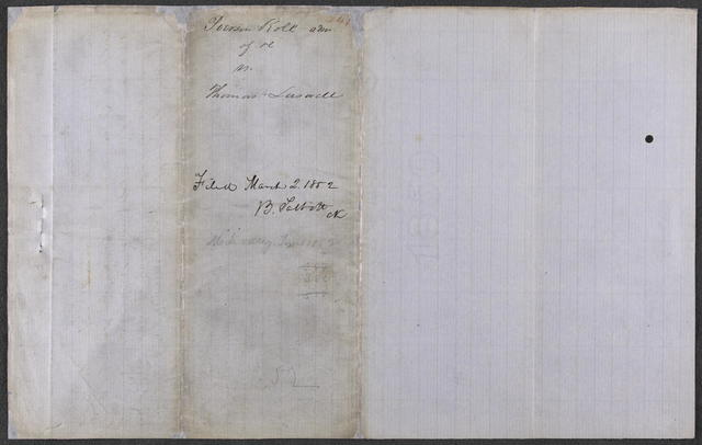 Bill in Chancery in Roll v. Lasswell, [Law papers].