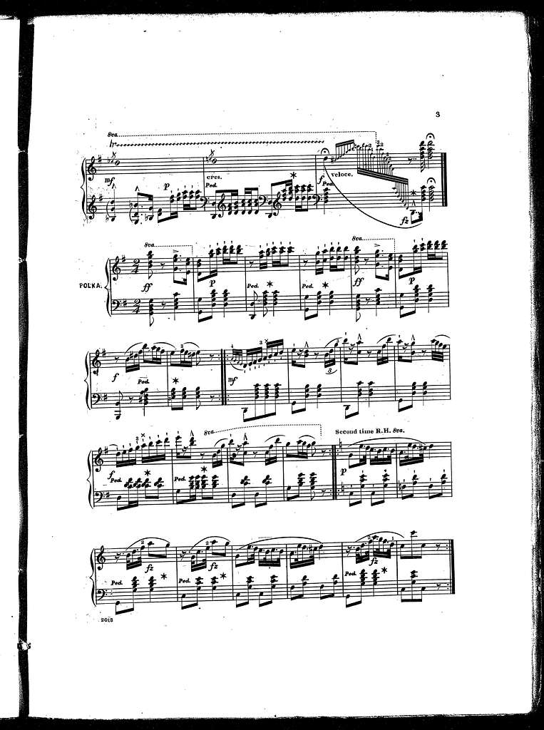 Brilliant variations on fire fly polka