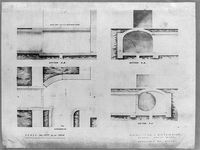 Cellar, north wing, junction of air-ducts