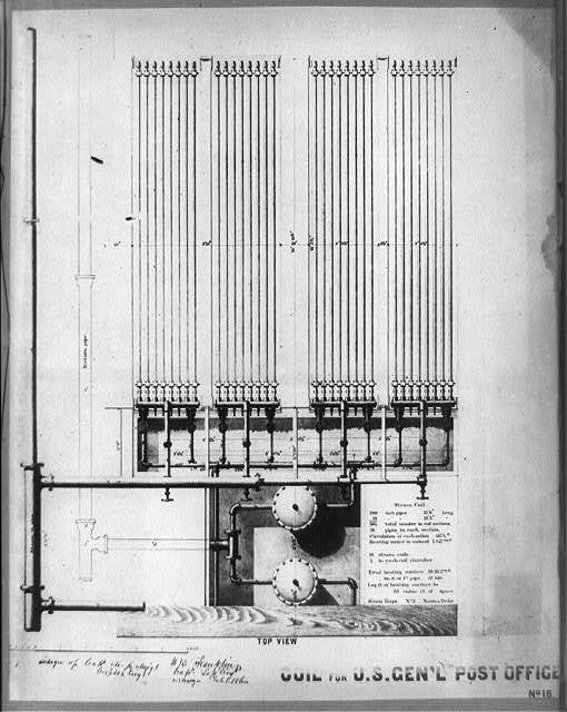 Coil for U.S. General Post Office, top view