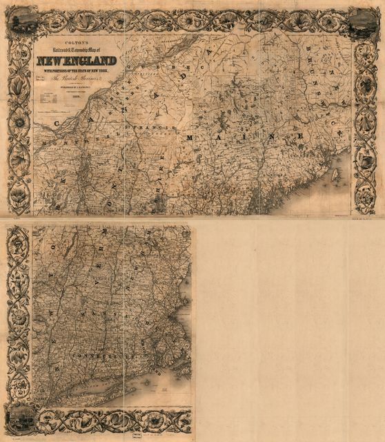 Colton's railroad & township map of New England with portions of the state of New York, the British provinces &c.