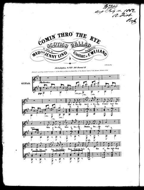 Comin' thro' the rye, Scotish ballad