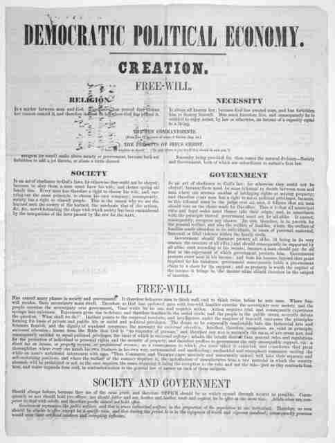Democratic political economy ... [n. P.] [c. 1852].
