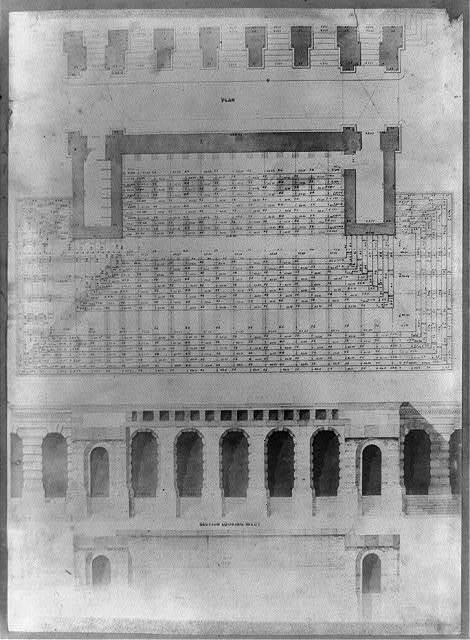 [Diagram for Constuction of steps to entrance of U.S. Capitol]