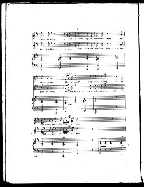 Eckert's Swiss song