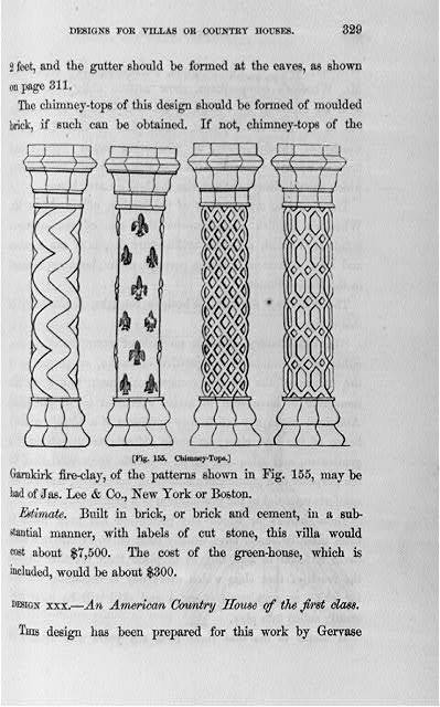 Four designs of chimney-tops