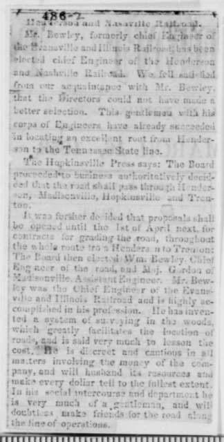 John Ingle, Jr., Friday, March 26, 1852  (Recommendation for William Bewley)