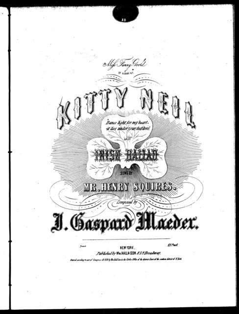 Kitty Neil, Irish ballad