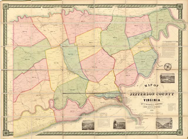 Map of Jefferson County, Virginia /