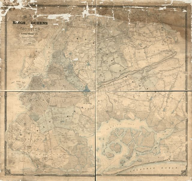 Map of Kings and part of Queens counties, Long Island N.Y. /