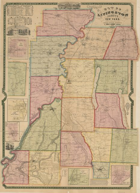 Map of Livingston County, New York : from actual surveys /