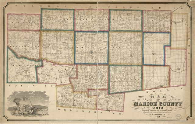 Map of Marion County, Ohio /