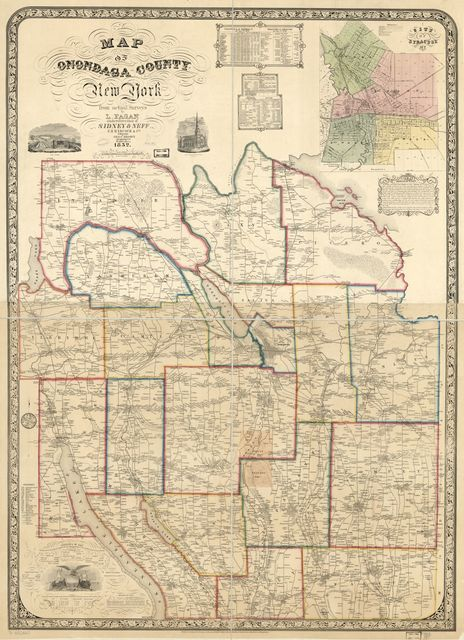 Map of Onondaga County, New York, from actual surveys.