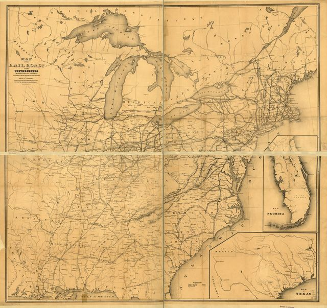 Map of the railroads in the United States in operation and progress