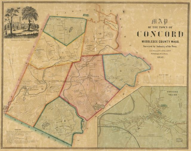 Map of the town of Concord, Middlesex County Mass. /