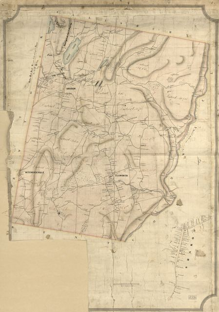[Map of the town of Sharon, Litchfield County, Conn.].