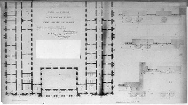 Plan and details of principal story of Post Office extension