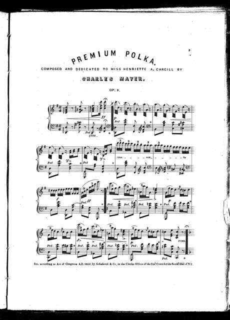 Premium concert polka, op. 9