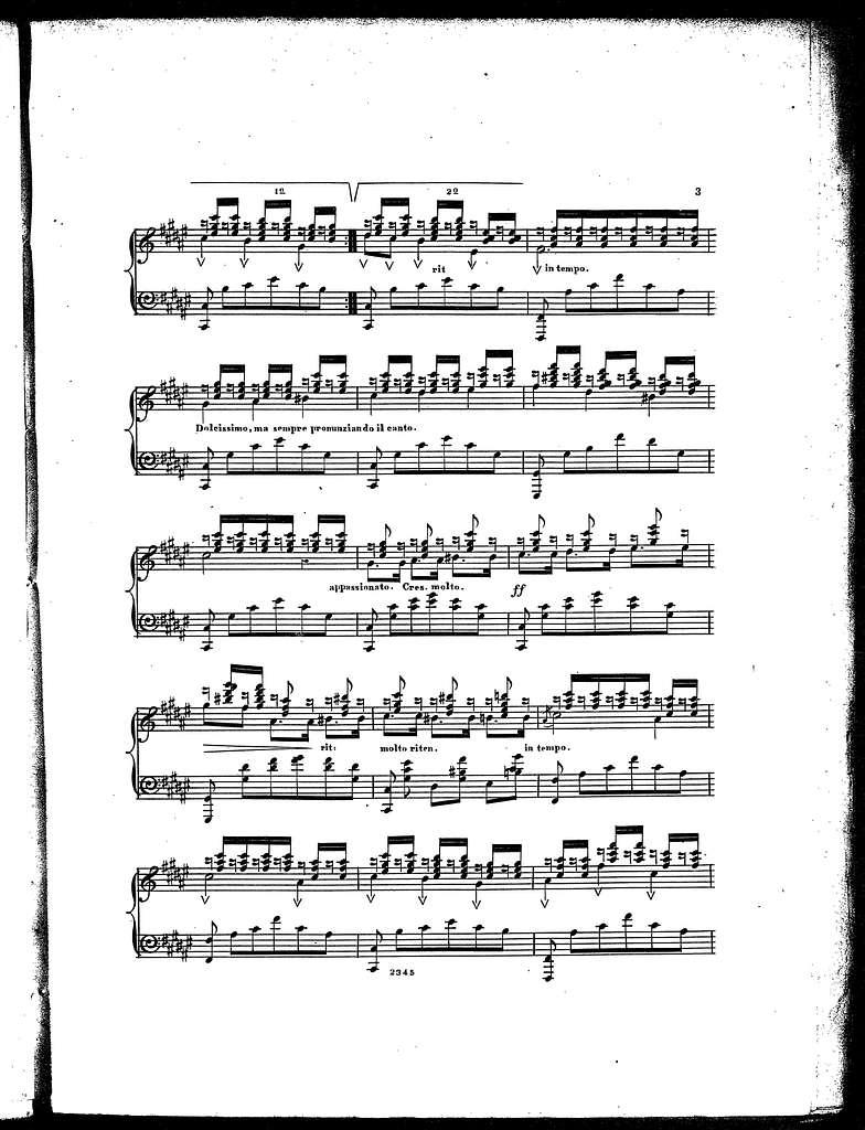 Song without words = Chant sans paroles, op. 29