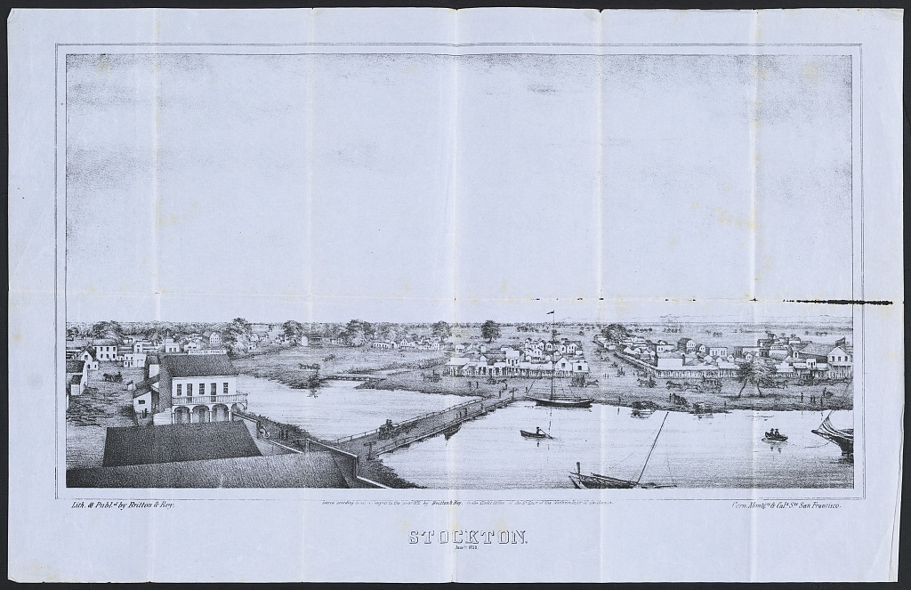 Stockton ; June 1st, 1852 / / Lith. & publd. by Britton & Rey, corn. Montgry. & Cala. Sts., San Francisco.