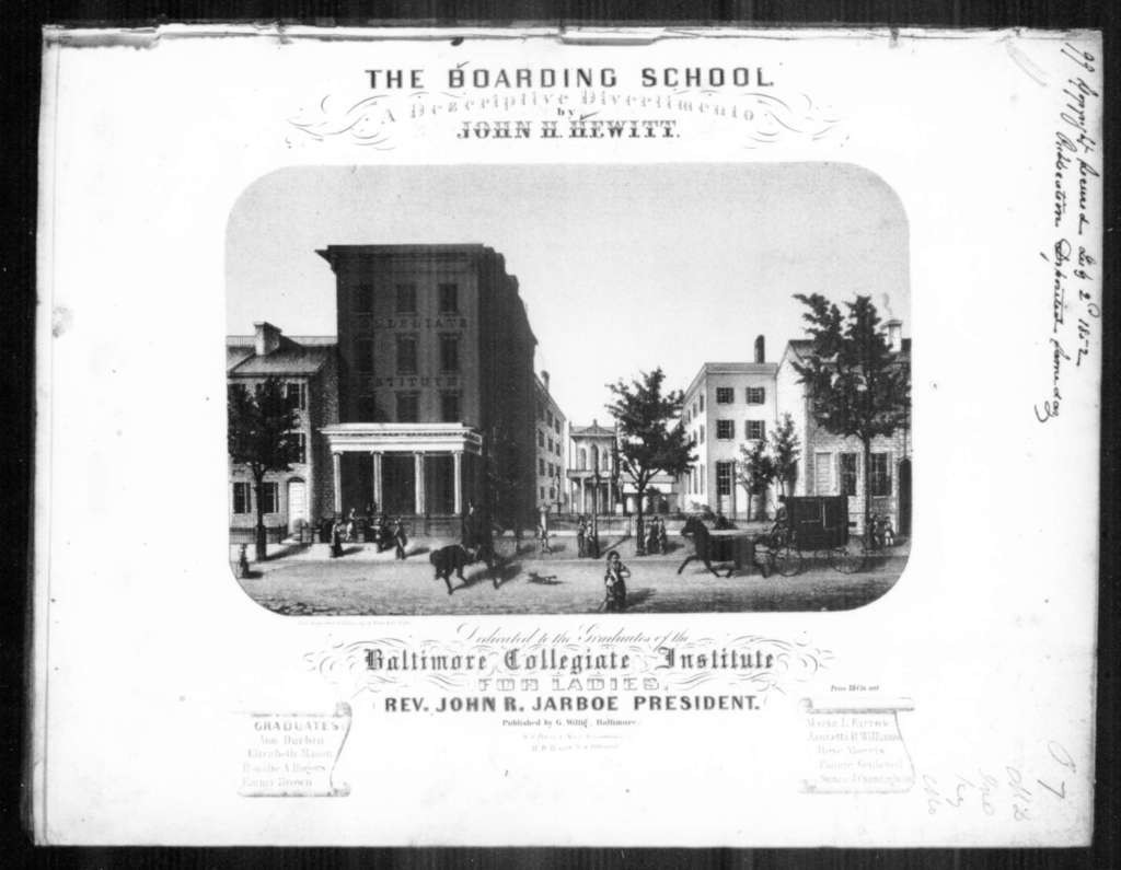 The  boarding school, a descriptive divertimento