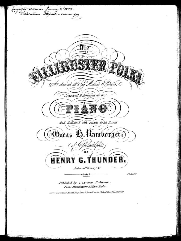 The  fillibuster polka