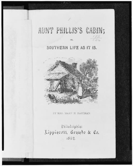 [Title page of book showing Afro-American woman with bucket on head and children playing before slave cabin]