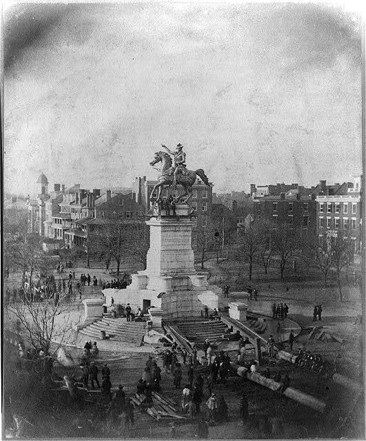 Unveiling of the statue of George Washington by Thomas Crawford, in Richmond, Virginia, Feb. 22, 1852 [i.e. 1858]