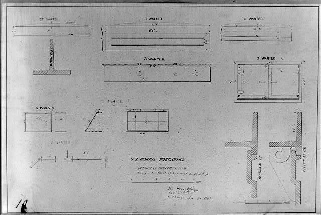 U.S. General Post Office, details of boiler setting