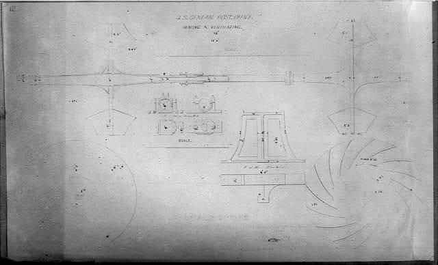 U.S. Gen'l Post Office, heating and ventilating, details of fans