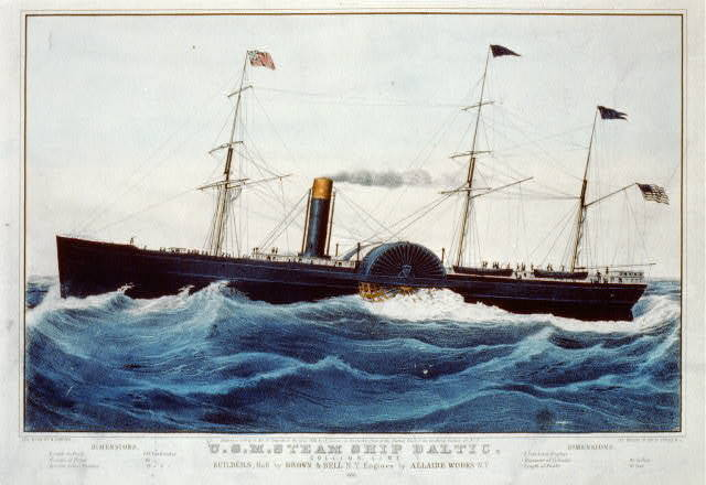 U.S.M. steam ship Baltic. Collins line builders, hull by Brown & Bell N.Y. engines by Allaire Works N.Y.