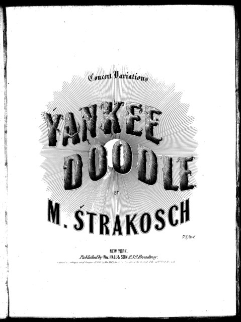 Yankee doodle with concert variations