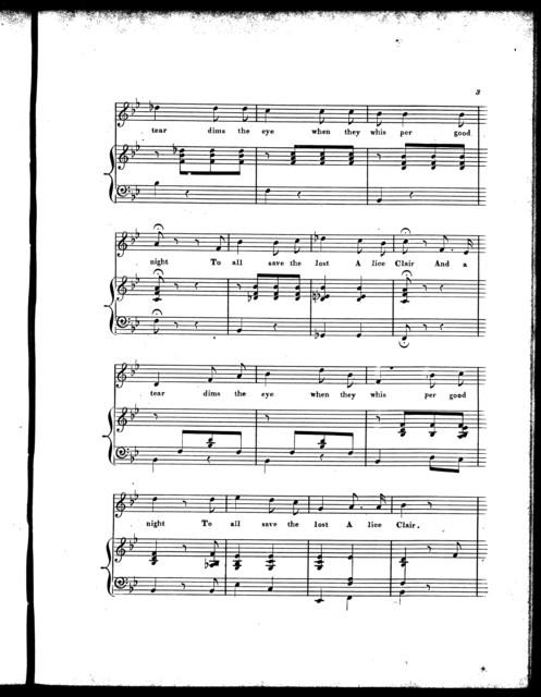 Alice Clair, a ballad
