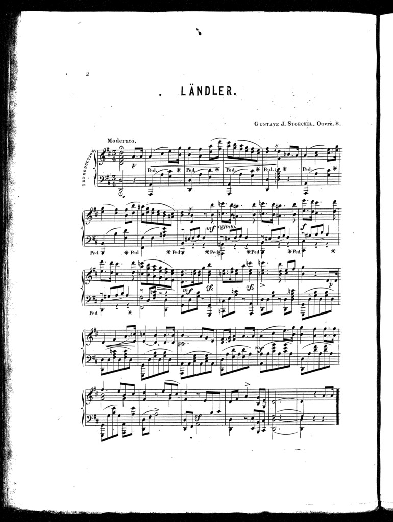 Alice redowa, lñdler, op. 8