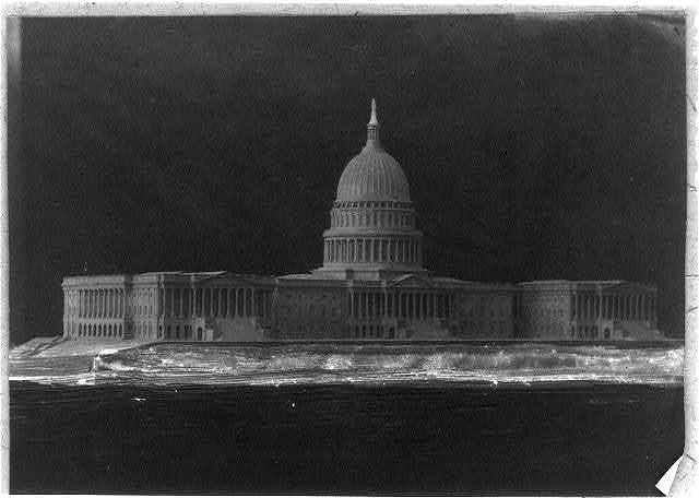 [Architectural model of U.S. Capitol]