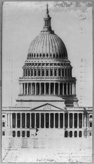 [Capitol, elevation of new dome]