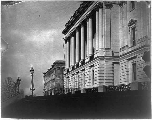 [Capitol exterior, west front from terrace]