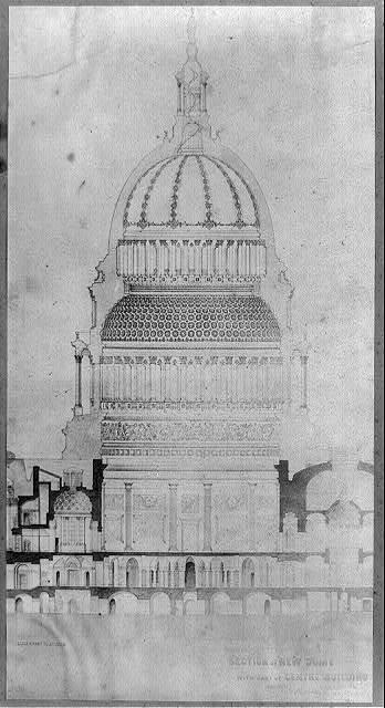 [Capitol, section of new dome]