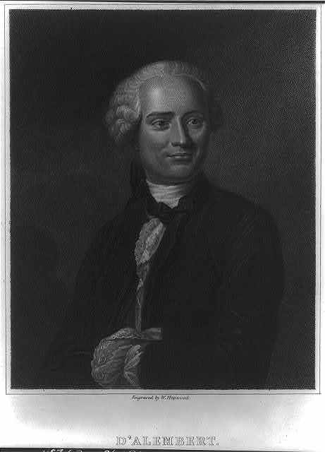 D'Alembert / engraved by W. Hopwood, from the original picture by De la Tour in the collection of the Institute of France.