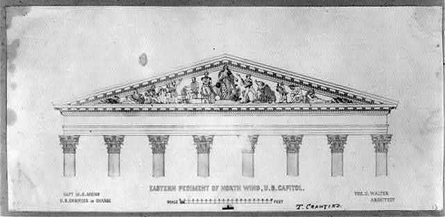 East pediment of the north wing, U.S. Capitol